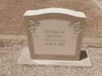 Grave of Thelma Wood Hurlihy, Beaver Dam Cemetery, Ray City, GA