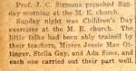 Cherokee Locals - Professor John C. Sirmons preached at the Methodist Episcopal Church, Cherokee, TX. June 21, 1917
