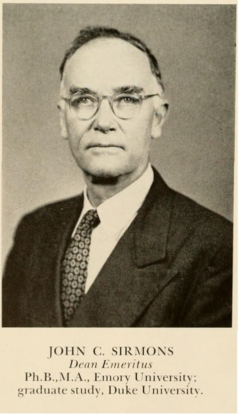 John C. Sirmans, Dean Emeritus, North Georgia College, 1943