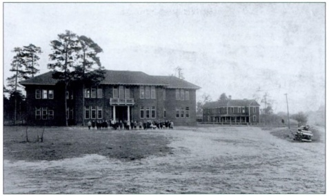 Pierce Collegiate Institute, Main building and girls dormitory (formerly the Presbyterial Institute). Pierce Institute became Blackshear High School in 1917. Image source: Pierce County, GA