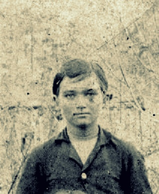 Image detail believed to be John C. Sirmons, about 13 years old, circa 1892.