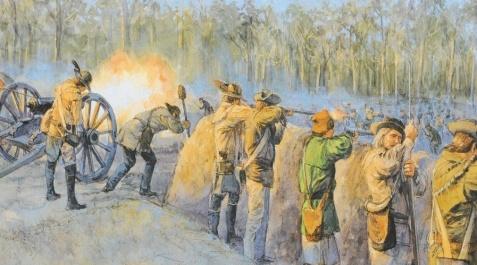 North Carolina Patriots , Private Isham Watson among them, defeated loyalist militia at Moores Creek Bridge on February 27, 1776. Isham Watson later moved to Lowndes County, GA.