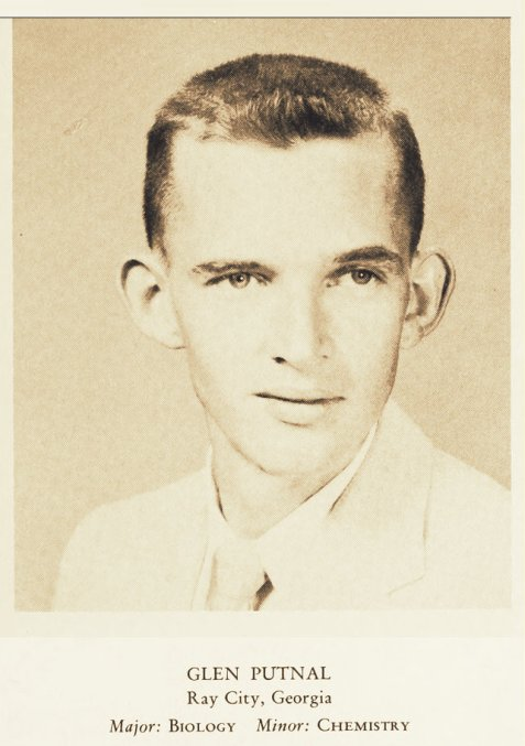 Glen Putnal, 1958, senior at Valdosta State College