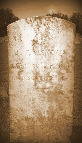 Grave of John F. Clements, Union Church Cemetery, Lanier County, GA.