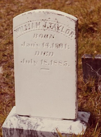 Grave of William Jackson Taylor, Empire Church Cemetery, Lanier County, GA. Image source: ShelbyGT2011
