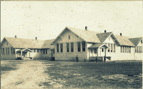 Ray City School, March 11, 1927. In 1918, the Berrien County School Board put out a contract for a new school building in Ray City, GA. Plans for the building were drawn by Valdosta architect Lloyd B. Greer. Materials were supplied by A. H. Miller Hardware Store in Ray City. The school opened in 1922.