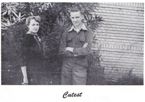 Glen Putnal was voted the cutest boy of the Ray City High School Class of 1954. Elinor Grissett was cutest girl.