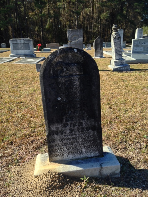 Grave of Eugene Griner, born May 26, 1896; died November 3, 1900, buried Empire Church Cemetery, Lanier County, GA
