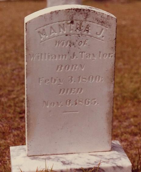 Samantha Jane Taylor tombstone