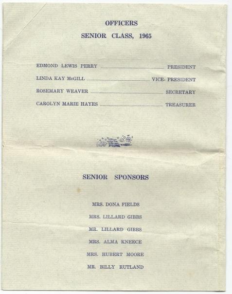 1965 Baccalaureate Sermon, Berrien County High School, Page 2