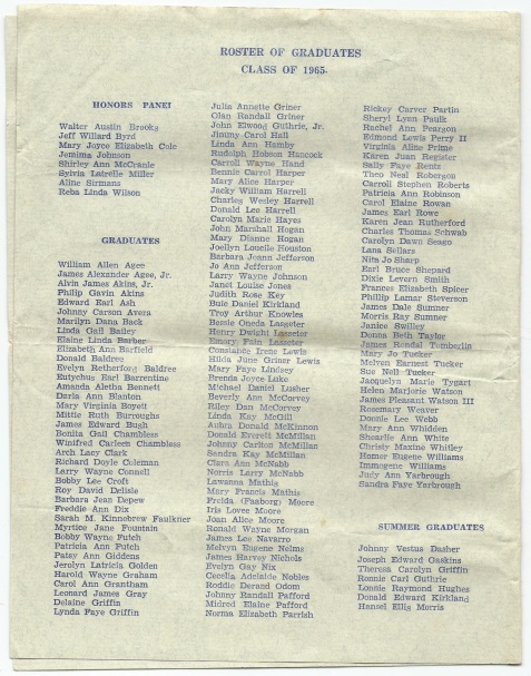 1965 Baccalaureate Sermon, Berrien County High School, Page 4