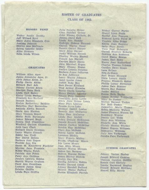 1965 Baccalaureate Sermon, Berrien County High School, Page 4