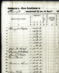 1860 Census schedule of slave inhabitants of Berrien County, GA enumerating the slaves owned by Hardeman Sirmans.