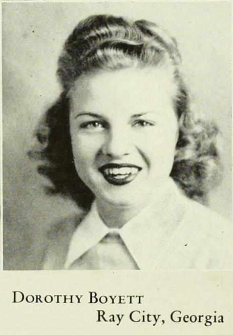 Dorothy Boyett, of Ray City, GA at Georgia State Womans College, Valdosta, GA