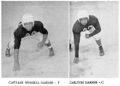 Wendell Garner, #44, and Carlton Garner, #38, Berrien High School Football Team