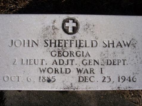 Grave of John Sheffield Shaw, Beaver Dam Cemetery, Ray