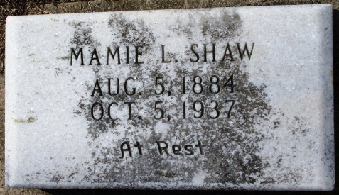 "Grave of Mary ""Mamie"" Langford Shaw, Beaver Dam Cemetery, Ray City, GA"