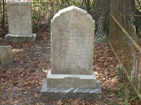 Grave of James W. Talley, died November 25, 1895. Old City Cemetery, Lakeland, GA. Image source: Ed Hightower