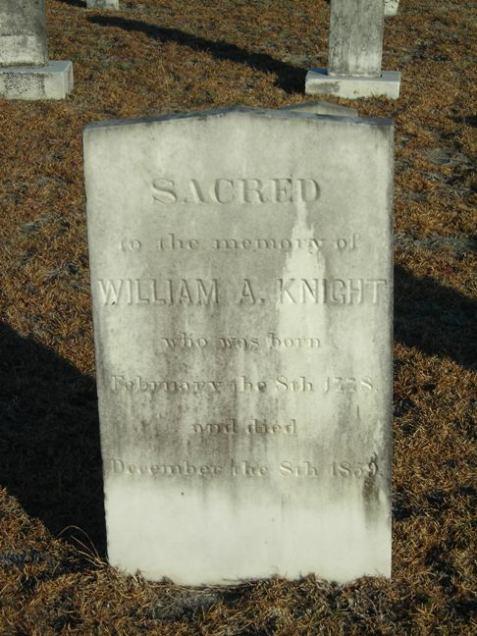 Grave of William Anderson Knight, Union Church cemetery, Lanier County, GA