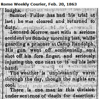 1863-feb-20-rome-wkly-courier-samuel-fuller-killed-29th-regt-ga-soldier