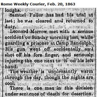 1863-feb-20-rome-wkly-courier-samuel-fuller-killed-29th-regt-ga-soldier