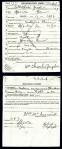 WWI draft registration of William C. Zeigler, June 5, 1917, Berrien County, GA