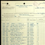 July 16, 1918 induction of William C. Zeigler into the US Army during WWI