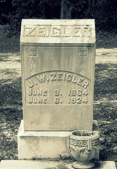 Grave of Jesse W. Zeigler, Long Bridge Cemetery, Berrien County, GA