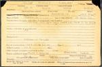 World War I service record of William C. Zeigler.