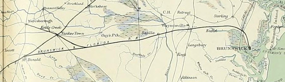 map brunswick and florida railroad | Ray City History Blog