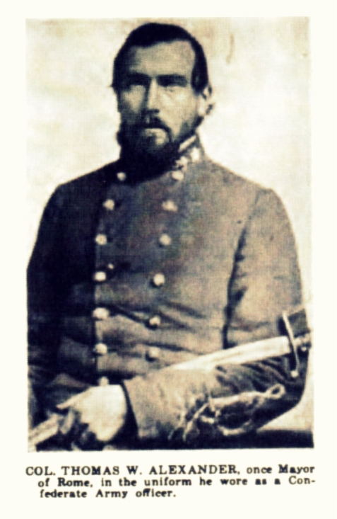Thomas Williamson Alexander was elected Lt. Colonel of the 29th Georgia Regiment