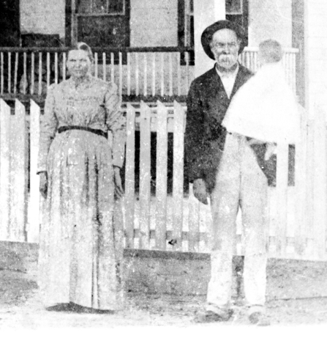Henry Harrison Knight with wife Mary Susan Ray and their son Levi Jackson Knight circa 1896. The Knight home was at Ray City, GA. Image detail courtesy of www.berriencountyga.com