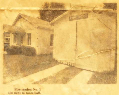 Fire station at Ray City, GA, 1978