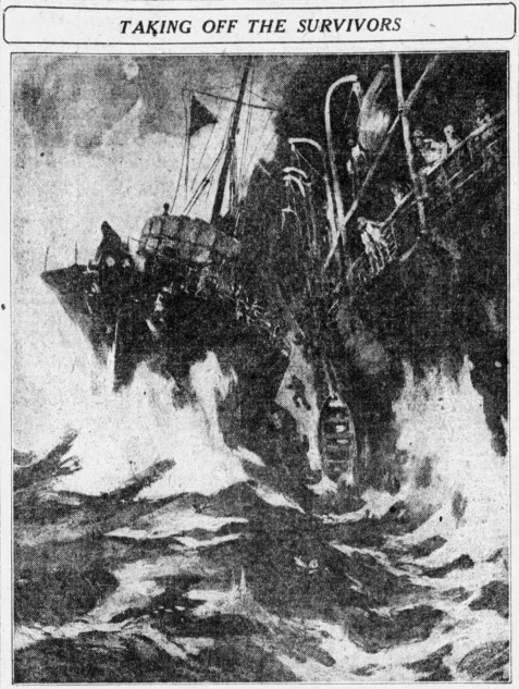 An American soldier on board the troopship Kashmir when it collided with and wrecked the troopship Otranto off the coast of Northern Scotland on October 6, 1918, furnished a description of the rescue of troops from the Otranto by the destroyer HMS Mounsey