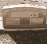 Grave of Lucious N. Gillham and Jeanette Dorsey Gillham, Pleasant Cemetery near Ray City, GA