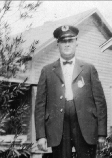 Bruner Shaw in police uniform about 1926. Photographed in Florida.