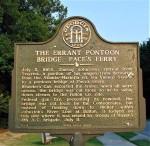 Paces Ferry Confederate Pontoon Bridge