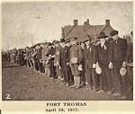 New recruits at Fort Thomas, KY, April 29, 1917