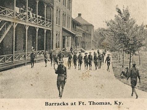 Army Barracks at Fort Thomas, KY circa 1917