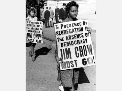Students protest segregation at the state capitol building in Atlanta on February 1, 1962. The passage of the federal Civil Rights Act in 1964 and the Voting Rights Act in 1965 ended legal segregation across the nation.