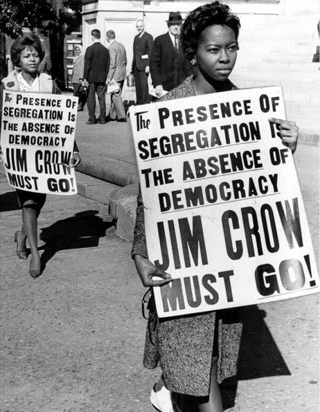 Students protest segregation at the state capitol building in Atlanta on February 1, 1962. The passage of the federal Civil Rights Act in 1964 and the Voting Rights Act in 1965 ended legal segregation across the nation. - New Georgia Encyclopedia