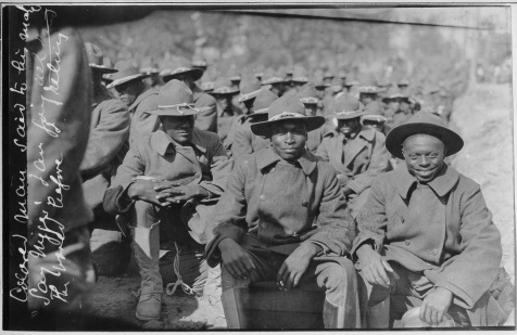 African-American troops at Camp Gordon, GA