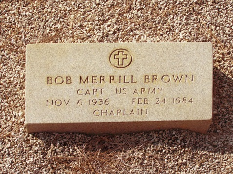 Grave of Chaplain Bob Merrill Brown, Liberty Baptist Church Cemetery, Pinehurst, GA
