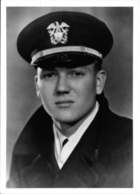 Portrait of Lieutenant, Junior Grade, Harry Elmore DeVane (1922-1946) U.S.N. in winter service dress uniform