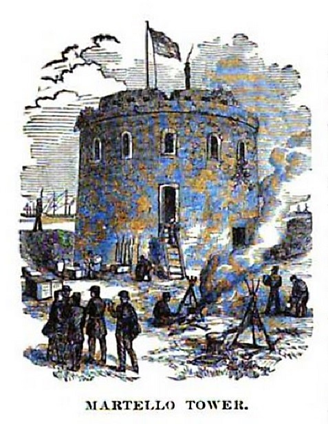 Martello Tower, a relic of the Spanish exploration of America, was the landing place for all Federal supplies brought on to Tybee Island in advance of the siege of Fort Pulaski.