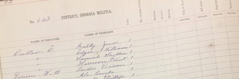 Freedmen listed in the 1870 Lowndes County, GA Militia District 662 tax digest