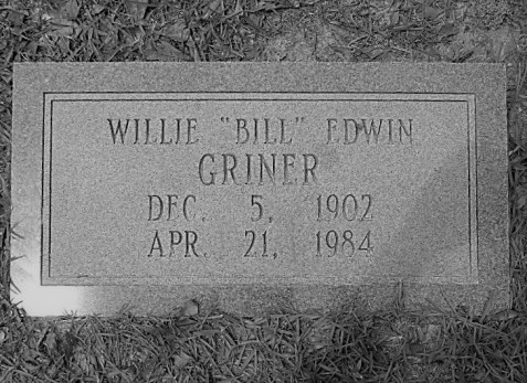 Grave of Bill Griner, New Ramah Cemetery, Ray City, GA. Image source: Robert Strickland