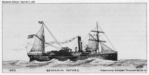 USS Benjamin Deford brought the 8th Michigan Infantry to Tybee Island, GA on April 9, 1862