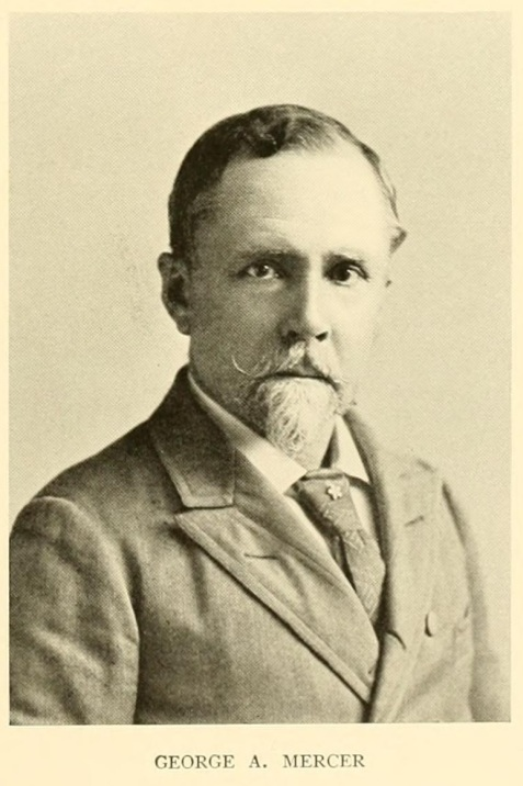 """George Anderson Mercer, son of Hugh W. Mercer, journaled about the 1861-62 time period when the Berrien Minute Men were stationed at coastal defenses near Savannah. Image source: <a href=""""https://archive.org/details/universitiesthei04cham/page/105"""" target=""""_blank"""" rel=""""noopener"""">Universities and Their Sons, Vol. 4</a>."""