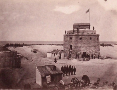 Federal soldiers at the Martello Tower, Tybee Island, GA